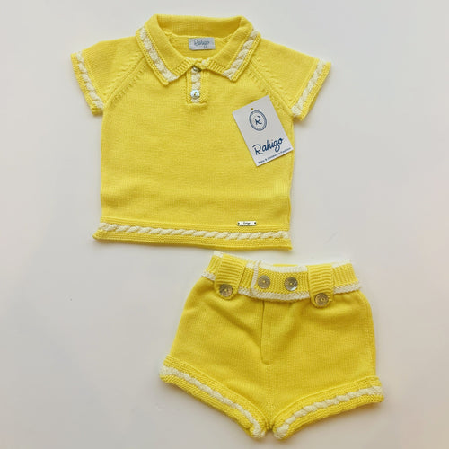 RAHIGO YELLOW / WHITE JOEY  TWO PIECE SET