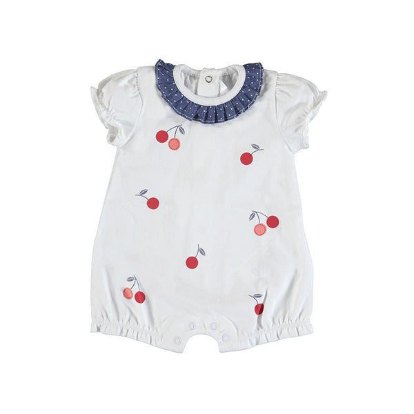MAYORAL - Cherry Romper  - White
