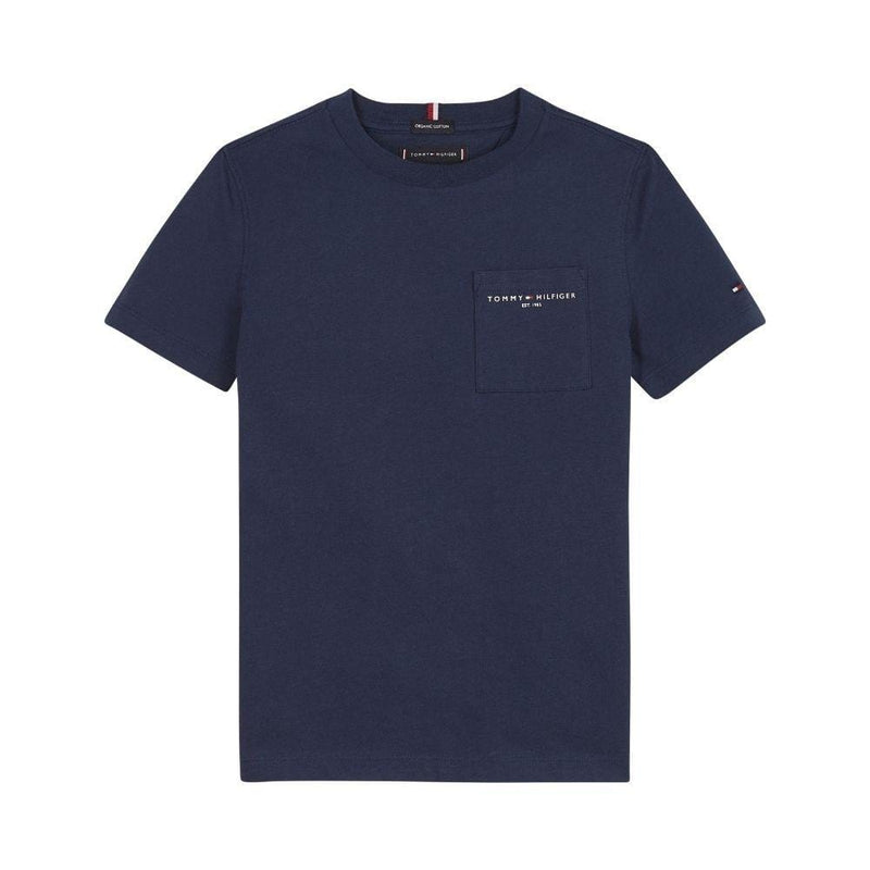 TOMMY HILFIGER - Essential Pocket Tee - Navy