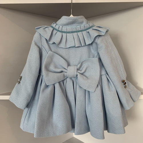 LA AMAPOLA BLUE PUFFBALL COAT