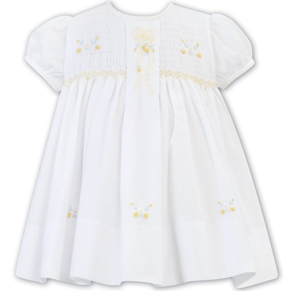 SARAH LOUISE WHITE / LEMON SMOCKED DRESS