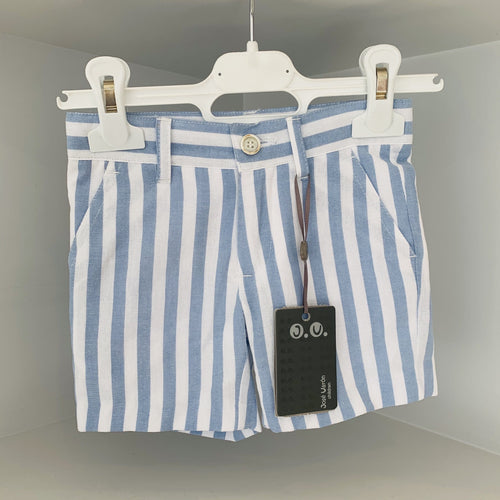 JOSE VARON BLUE CANDY STRIPE BOYS SHORTS