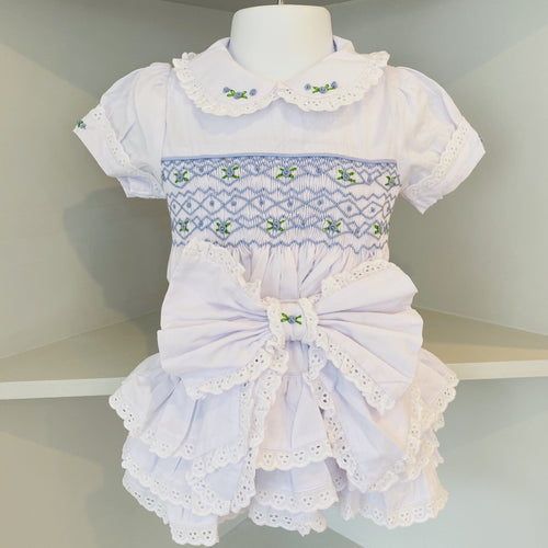 LILY SMOCKED WHITE SET