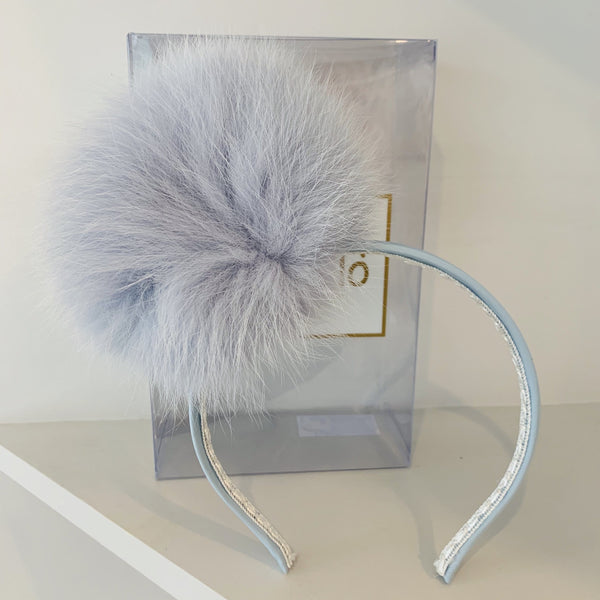 PRE ORDER BIMBALO BLUE FUR HAIR BAND