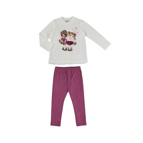 MAYORAL FRIENDS CHERRY PINK LEGGING SET