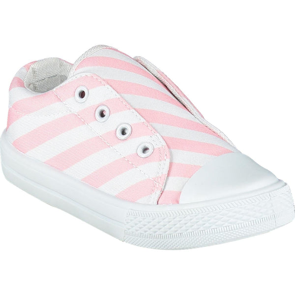 A DEE PINK DIAGONAL CANVAS TRAINER