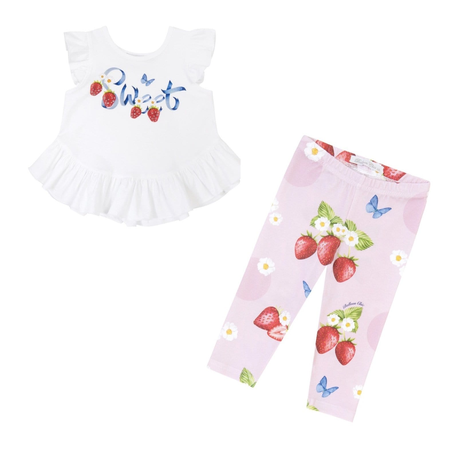 PRE ORDER BALLOON CHIC STRAWBERRY LEGGINGS SET