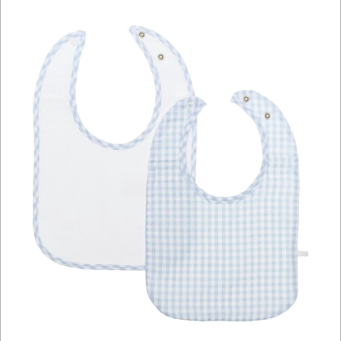 LARANJINHA BLUE GINGHAM BIB TWO PACK