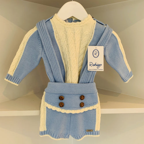 RAHIGO TEDDY BABY BLUE SET