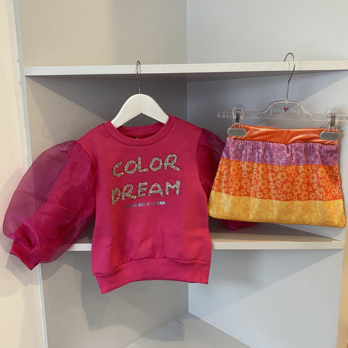 AGATHA RUIZ DE LA PRADA FUSCHIA DREAM TOP AND SEQUIN SKIRT