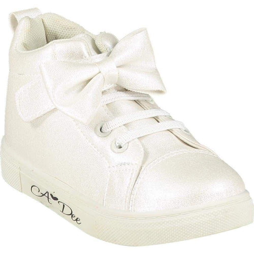 A DEE BOW HIGH TOP TRAINER WHITE