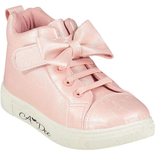 A DEE BOW HIGH TOP TRAINER PINK
