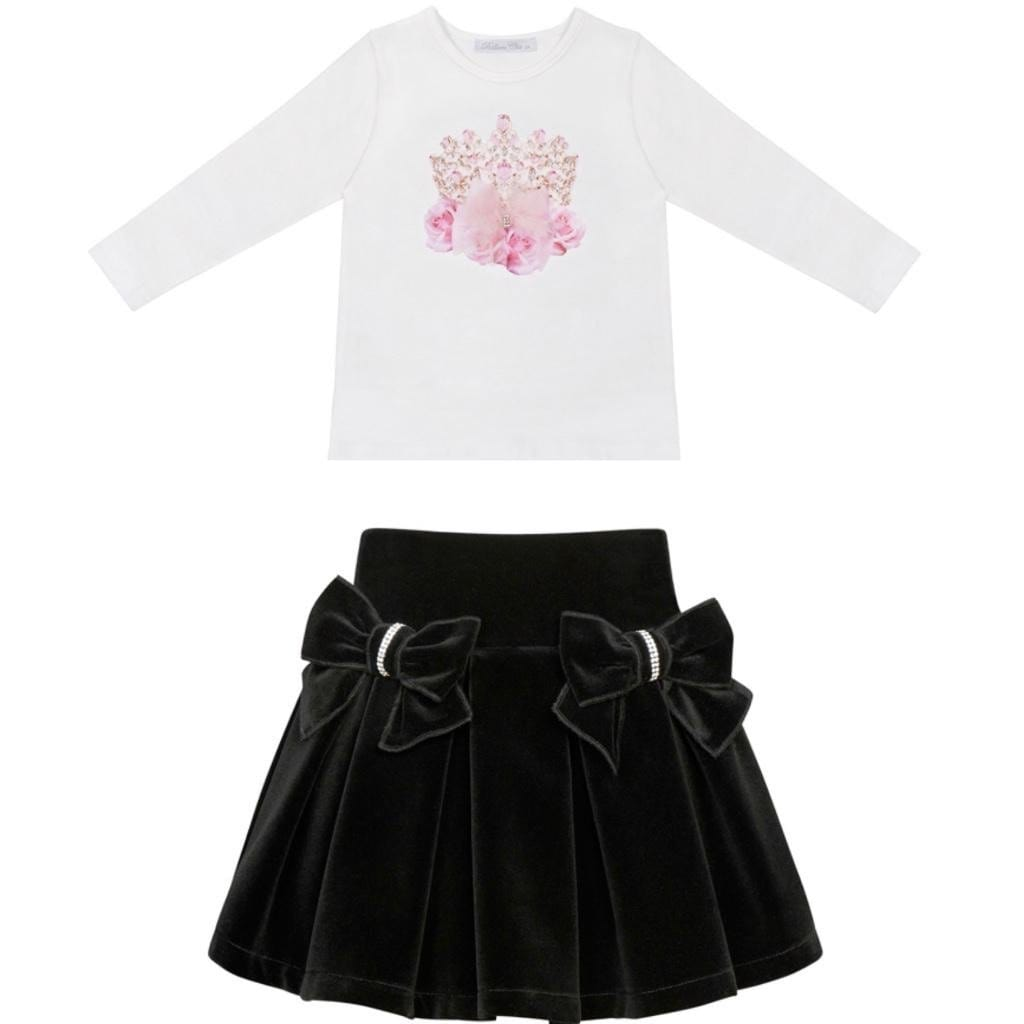 BALLOON CROWN VELVET SKIRT SET