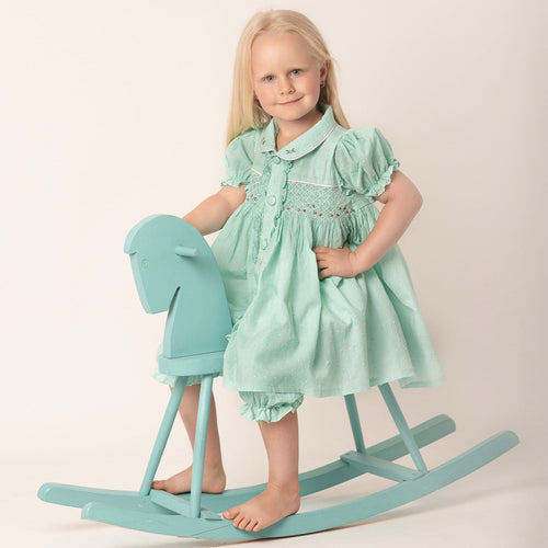 MINT SMOCKED TWO PIECE