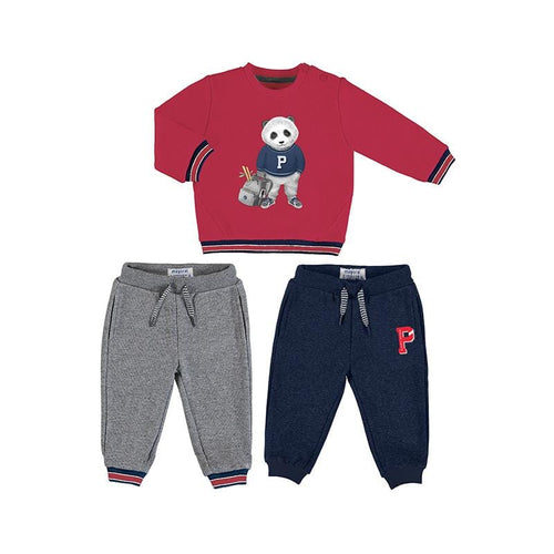 MAYORAL TODDLER  RED PANDA 2 PANTS TRACKSUIT