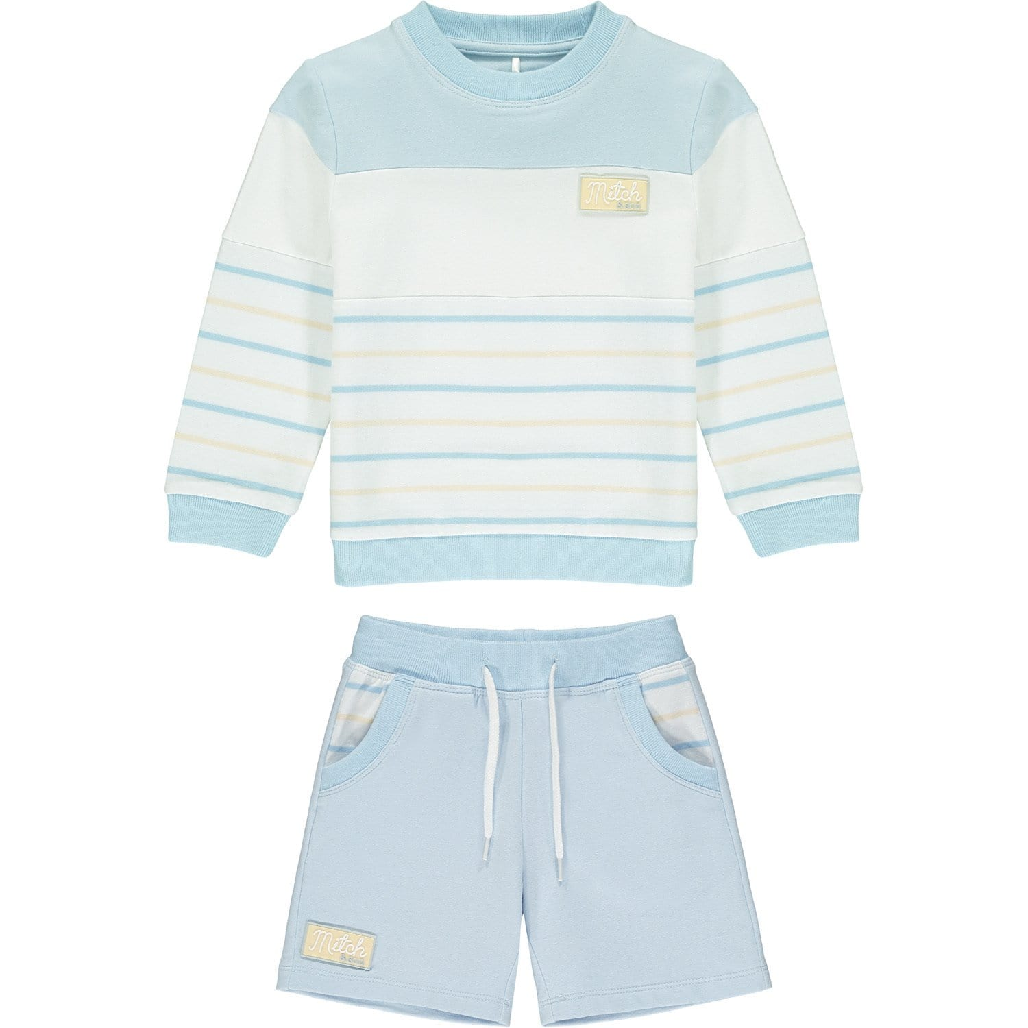 MITCH & SON PALE BLUE STRIPE SWEATSHIRT SET MS21117 BELTANE