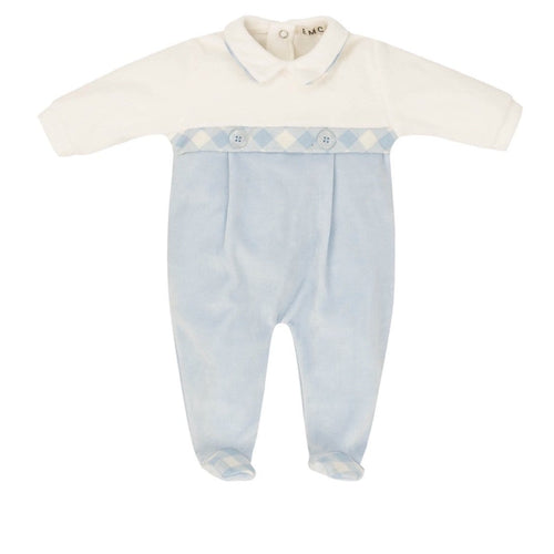 EVERYTHING MUST CHANGE VELOUR BABY GROW
