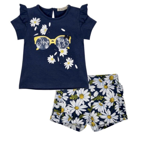 EVERYTHING MUST CHANGE DAISY CHAIN HAPPY TOP AND SHORT SET
