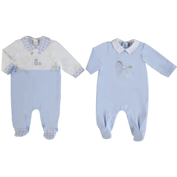 MAYORAL - Teddy Babygrow 2 Pack - Blue