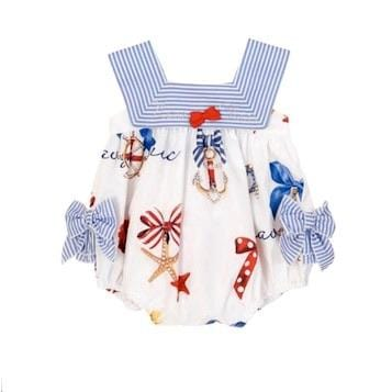 BALLOON CHIC NAUTICAL ROMPER