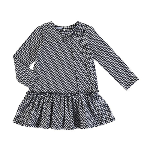 MAYORAL NAVY DOGTOOTH DRESS