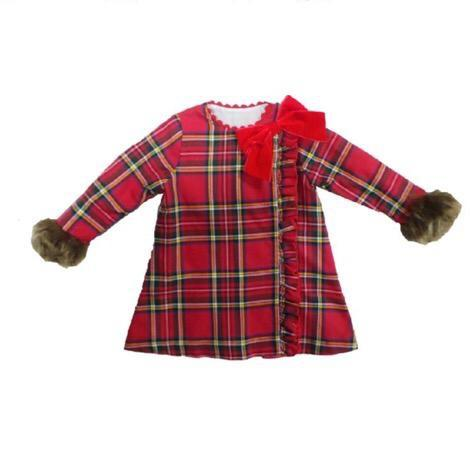 NINI A LINE TARTAN DRESS