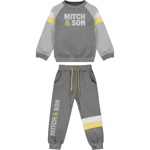 PRE ORDER MITCH & SON LOGO DARK GREY TRACKSUIT MS1409 SILAS