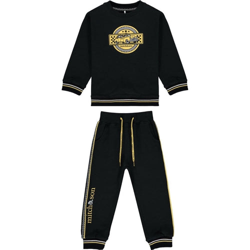PRE ORDER MITCH & SON TAXI BLACK TRACKSUIT MS1408 ZACHARY