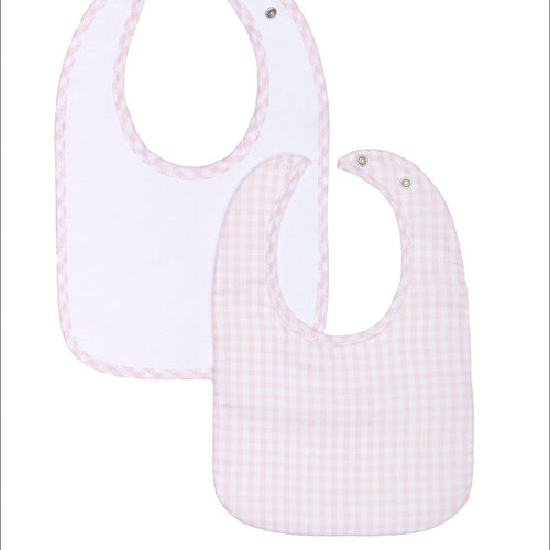 LARANJINHA PINK GINGHAM BIB TWO PACK