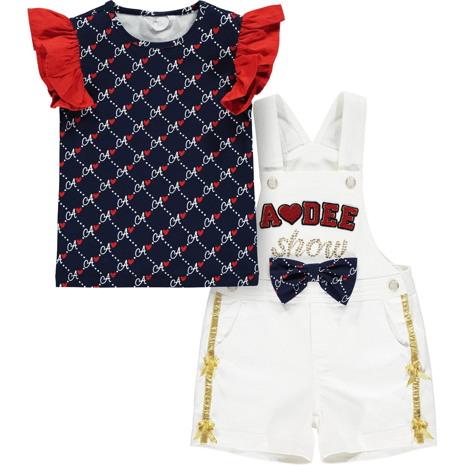 PRE ORDER A DEE DENIM DUNGAREE SET MONA