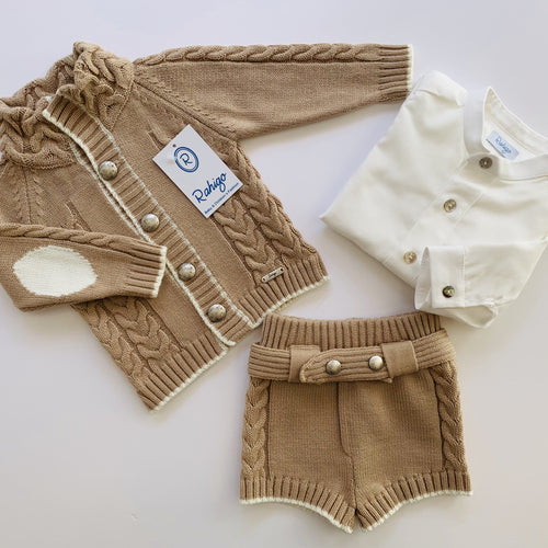 RAHIGO HARRY CAMEL THREE PIECE SET