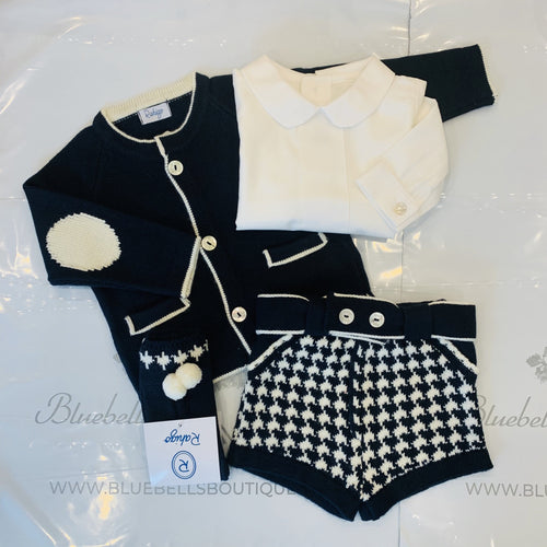 RAHIGO NAVY DOG TOOTH GEORGE FOUR PIECE SET