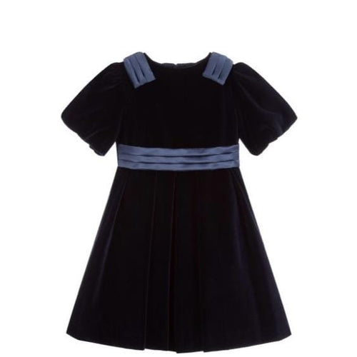 PATACHOU NAVY  VELVET DRESS