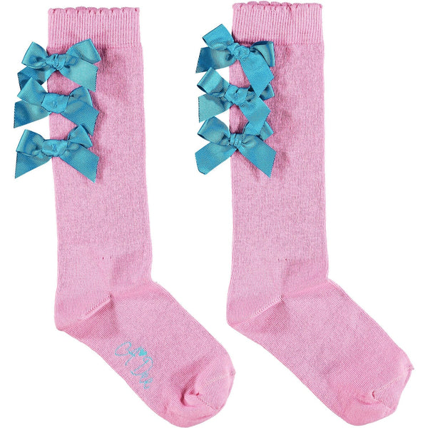 A DEE PINK CANDY KNEE HIGH SOCKS