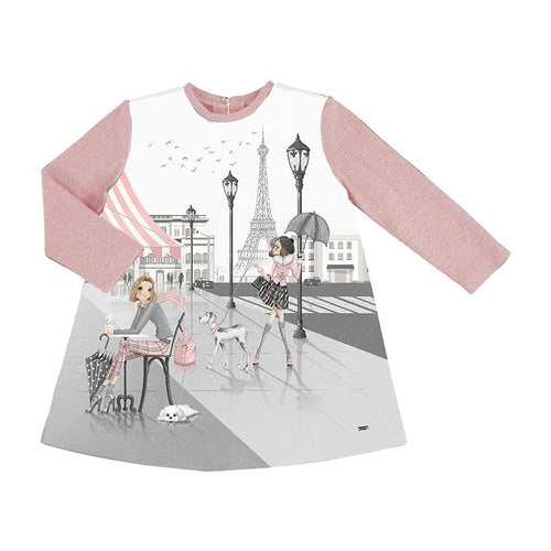 MAYORAL PINK PARIS DRESS
