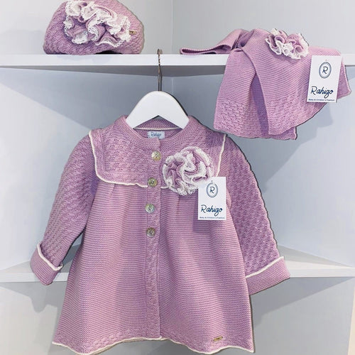 RAHIGO ELIZABETH LILAC COAT SET INCLUDING HAT & SCARF