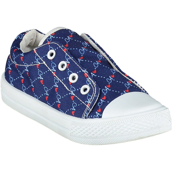 A DEE- Logo Print Slip On Trainers - Blue