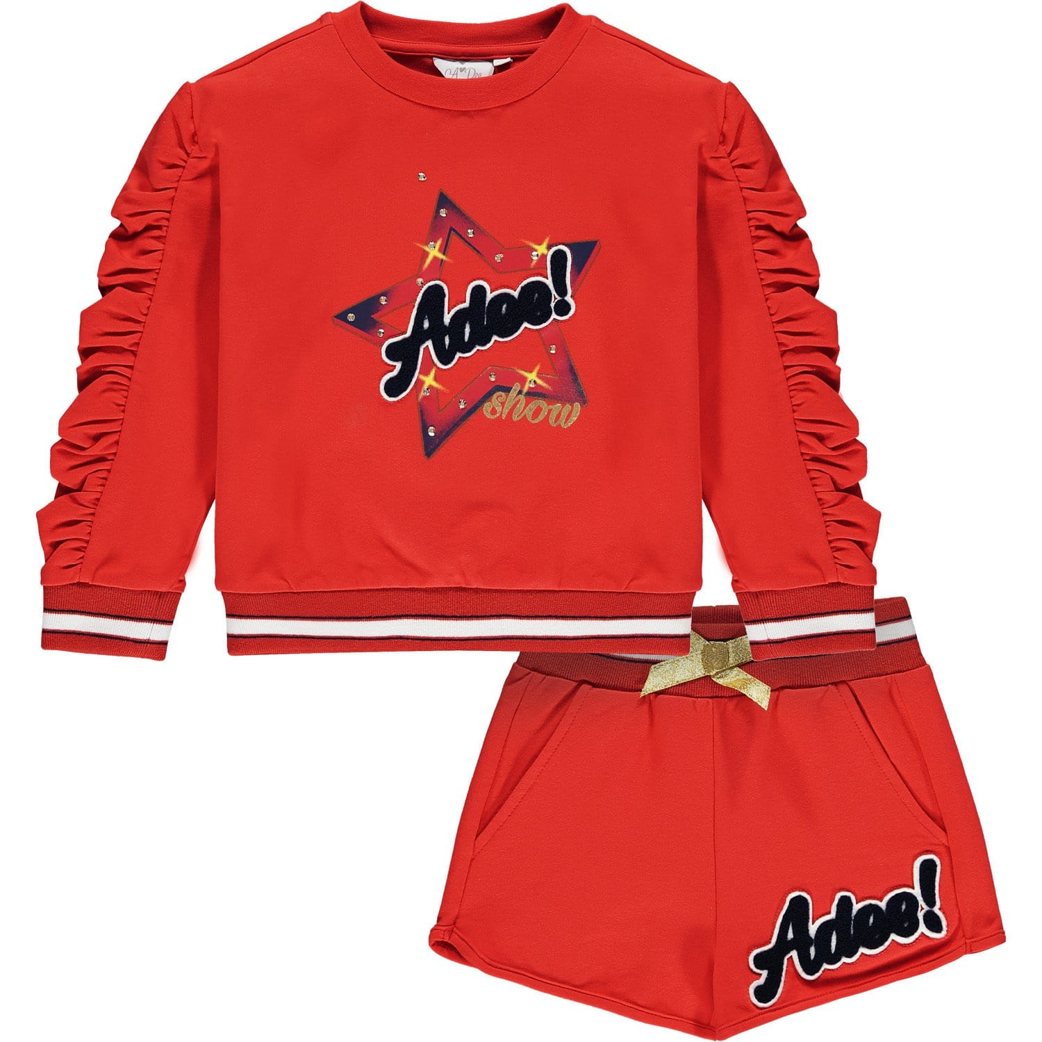 PRE ORDER A DEE RED STAR SWEAT SHORT SET MILLY S212510