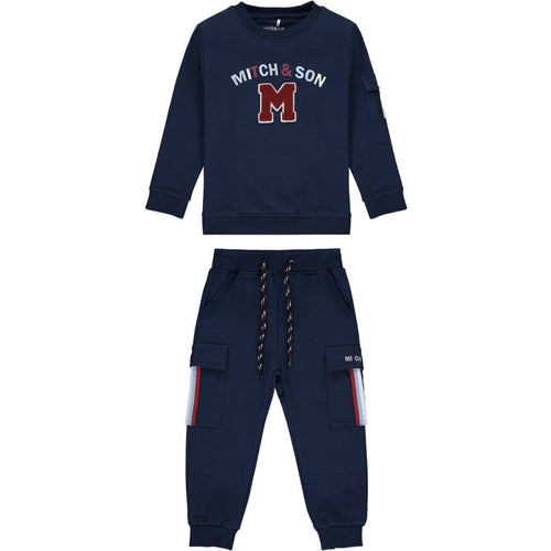 PRE ORDER MITCH & SON NAVY LOOP BACK TRACKSUIT MS1451 CONNOR