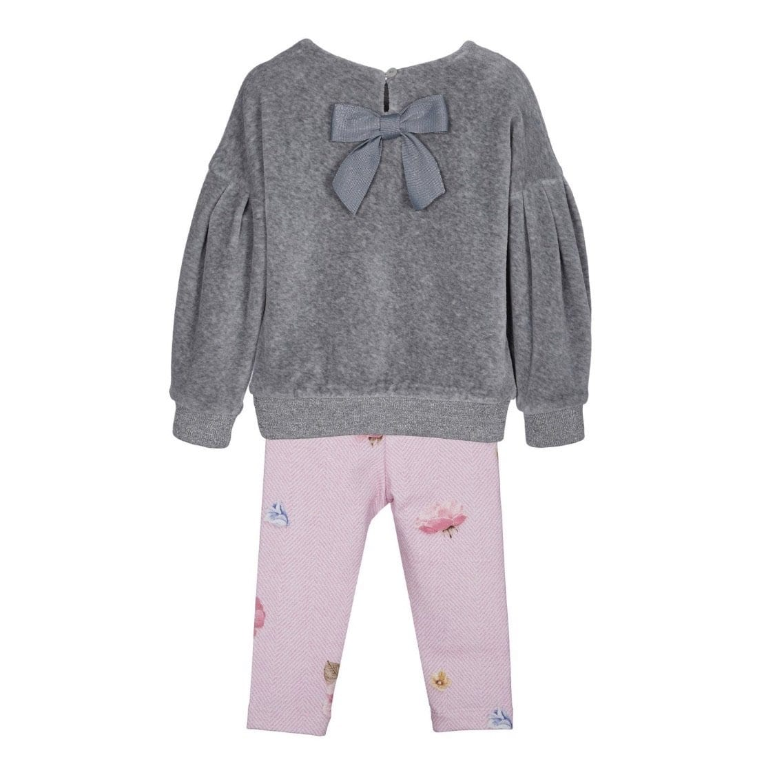 LAPIN HOUSE GREY FLOWERS LEGGING SET