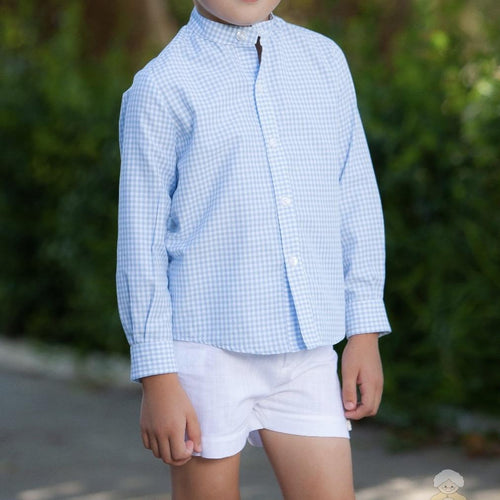 ABUELA TATA GINGHAM BOYS SET