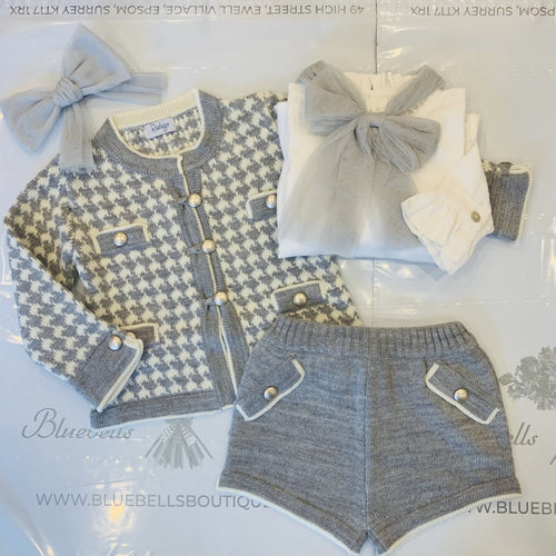 RAHIGO LOTTIE  GREY DOG TOOTH FOUR PIECE SET