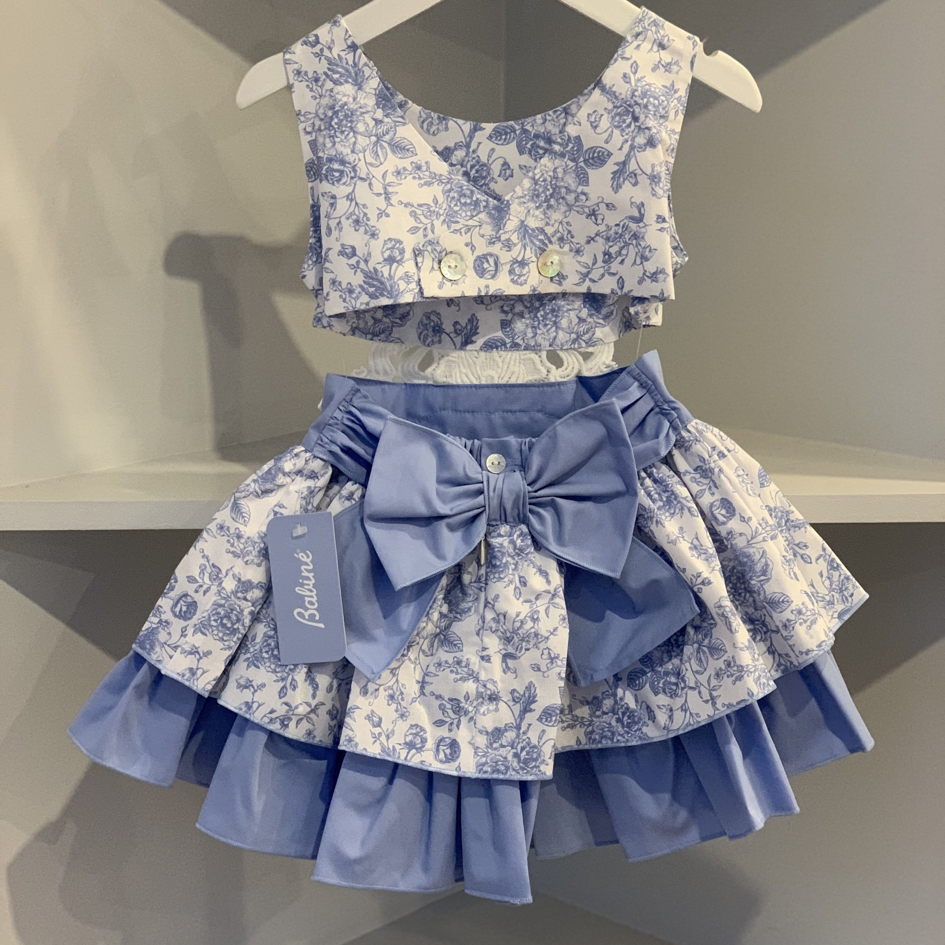 BABINE EXCLUSIVE PORCELAIN CUT OUT BLUE DRESS