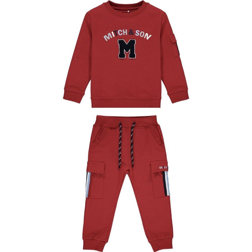 PRE ORDER MITCH & SON CHILLI RED LOOP BACK TRACKSUIT MS1451 CONNOR