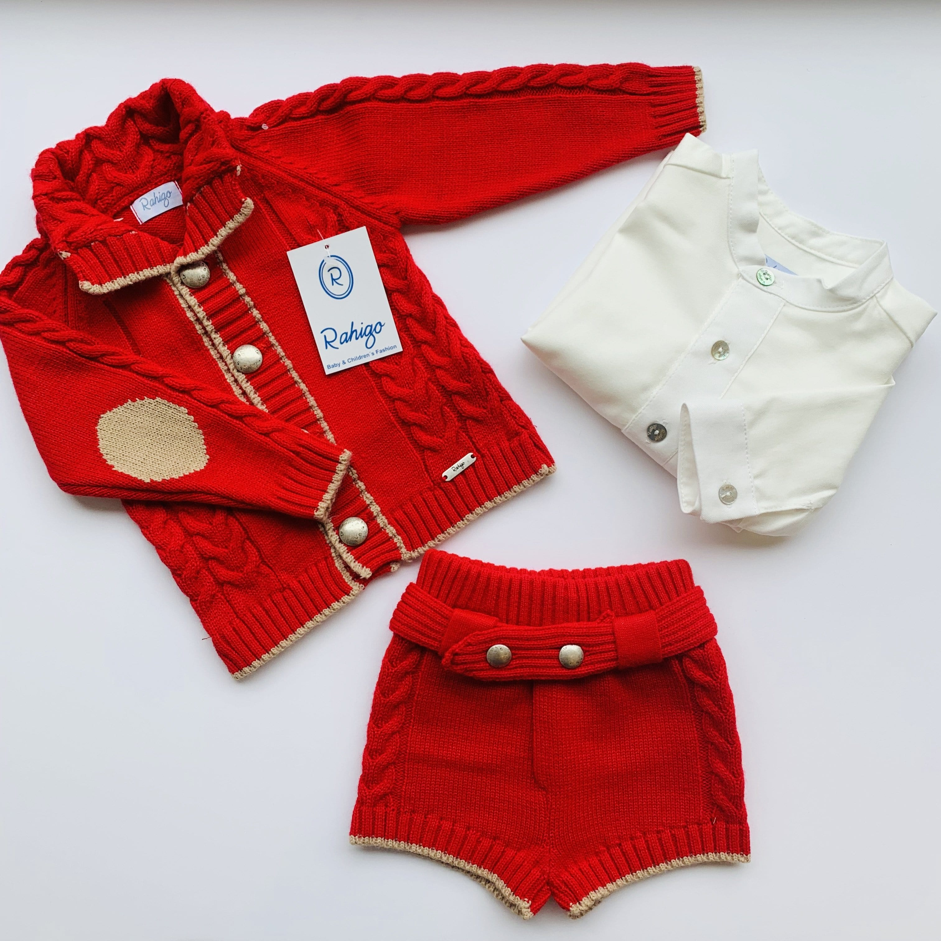 RAHIGO HARRY RED THREE PIECE SET