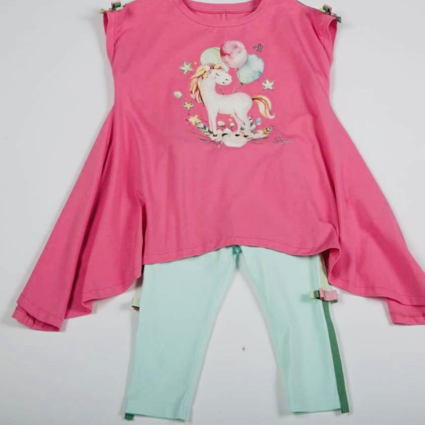 PRE ORDER DAGA PINK UNICORN TUNIC & LEGGINGS SET