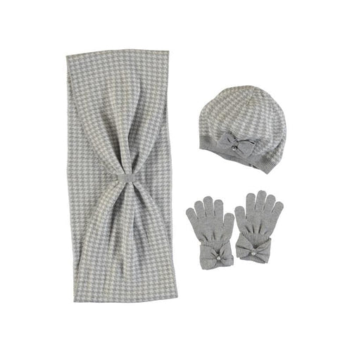 MAYORAL STEEL HAT & SCARF WITH GLOVES SET