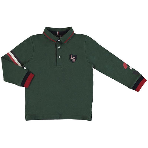 MAYORAL OLIVE GREEN LONG SLEVE POLO TOP