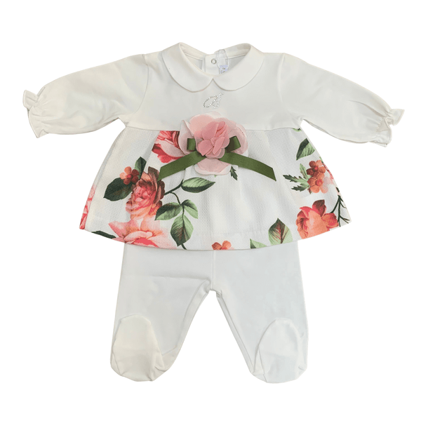 BARCELLINO - Flower Print Two Piece - White