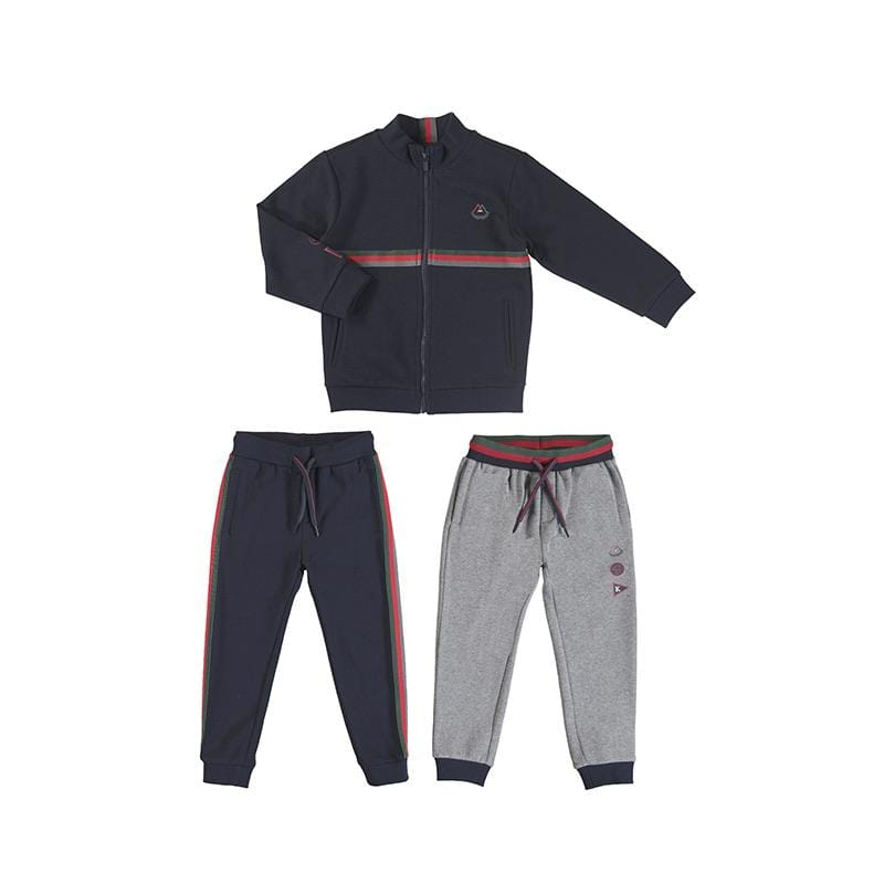 MAYORAL NAVY STRIPED TWO PANT TRACKSUIT